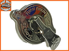 Edelstahl Sicherheit Rad KÜHLERVERSCHLUßDECKEL 5.9kg passend für Ford Escort MK1