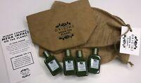 (4) ORIGINS Mega-Mushroom Soothing Treatment Lotion 1 oz ea Green Gift Package