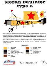 KV Decals 1/72 MORANE SAULNIER TYPE L Fighter Bolshevik Air Force
