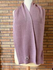 MONCLER Logo Knit Scarf Pink size L