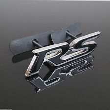 NEW BLACK RS GRILL BADGE FOR Chevrol Racing Decoration Metal Front Grille Emblem