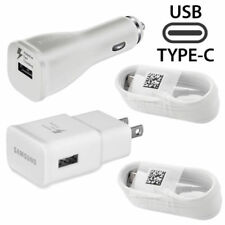Original Samsung Galaxy C9 Pro Adaptive Fast OEM Wall Car Charger Type -c 2 X Cable