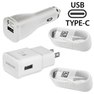 Original Samsung Galaxy S9 S9plus Note 8 Adaptive Fast OEM + Car Charger+Type -C