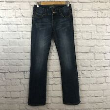 Seven 7 Brand Size 27 Bootcut Jeans Embroidery Distressed Stretch Blue *****