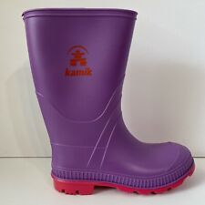 Kamik Stomp Girls Rain Boots Youth PURPLE PINK New In Box - Size 2