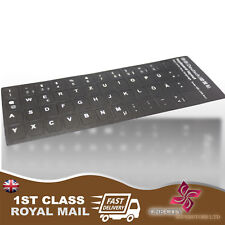 German black Replacement Keyboard Stickers With White Letters Laptop Computer PC