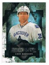 2011-12 CODY HODGSON UD ARTIFACTS ROOKIE #195 CANUCKS #990/999