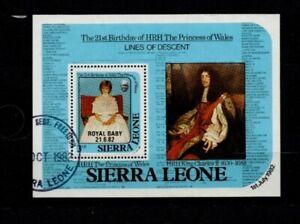 Sierra Leone Mini sheet 21st birthday HRH Princess of Wales no gum