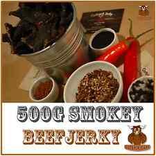 BEEF JERKY SAVOURY SNACK FOOD 500G BULK SMOKEY AUSTRALIAN DELICIOUS FLAVOUR