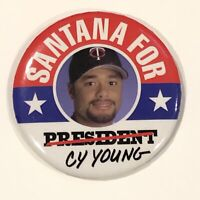 "Johan Santana for Cy Young Minnesota Twins Pinback Button Pin 3"" MLB Baseball"