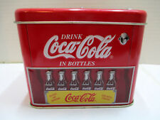 Drink Coca-Cola In Bottles Candy Tin Replica 1950s Coke Bottle Cooler Ice Chest