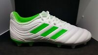 Adidas Men's Copa 19.3 FG Soccer Cleats White/Solar Slime BB9188