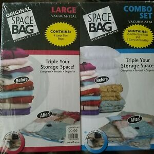 Space Saver Bags Vacuum Seal Lot of 7 Variety Jumbo Large Carry On New Original