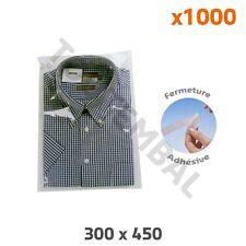 Sachet plastique adhésif Format chemise 300x450 mm (x1000) (par 1000)