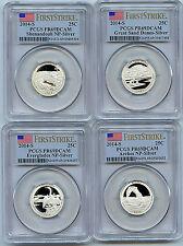 2014 S NP  4 Coin Silver Quarter PCGS Certified PR69 DCAM Proof FS 25 C Set B3