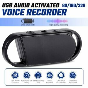 Mini Spy Hidden Audio Sound Recorder Voice Activated Recording Device Keychain
