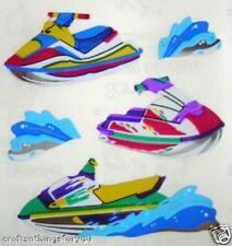 Sandylion Glittery/Shiny JET SKIING Scrapbooking Stickers FAST SHIP H06