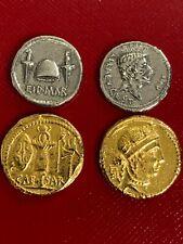 Rare Caesar Gold Aureus and Brutus 'Ides of March' Denarius Pair of Coins