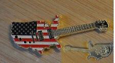 2012 Somalia color $1 Guitar-Stars and Stripes-USA Map