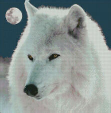 """Arctic Wolf Complete Counted Cross Stitch Kit 10"""" x 10"""""""