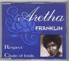 CD MAXI SINGLE 2 TITRES PROMO ARETHA FRANKLIN RESPECT /CHAIN OF FOOLS