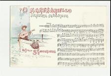 cartolina antica spartito o marenarello serenata napoletana musica d gambardella