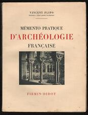 █ V. Flipo MEMENTO PRATIQUE D'ARCHEOLOGIE FRANCAISE █