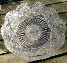 "FINE ANTIQUE ABP ""PLUTO"" BY J. HOARE CUT GLASS DISH/BOWL!!  7IN"