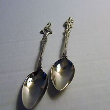 Lot of 2 Souvenir Spoons, Colonial Theme - Drum and Bugler