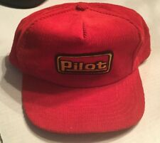 Corduroy Trucker Hat Cap PILOT Snap Back Red