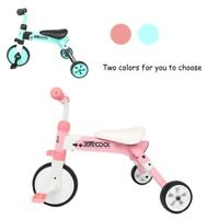 2 in 1 Kids Tricycles For 2-5 Years Old Kids Toddler 3 Wheels Folding Bike Trike