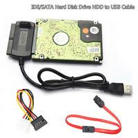 SATA / PATA / IDE-Laufwerk zu USB 2.0-Adapter-Konverterkabel für 2,5 / 3,5-Fes X