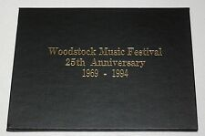 Woodstock Music Festival 25th Anniversary 1969-1994 Souvenir sheets w Hardcover
