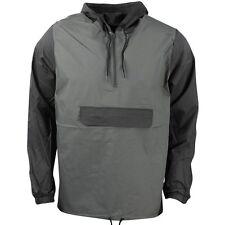RVCA Men's PUBLIC WORKS Shell Jacket/Windbreaker - BLK/GRY - Large - NWT