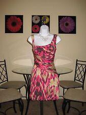NWT  bebe Ikat Print Drape Dress Size S