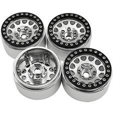 """4PCS Aluminum 1.9"""" Beadlock Wheel Rims Set for 1/10 RC Crawler Cars SCX10 #24"""