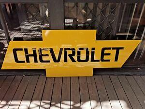 Steel Chevrolet sign - Mancave garage decor display shed