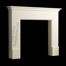 ELECTRIC GAS WHITE MANTEL MANTLE PIECE TRADITIONAL SURROUND WALL FIRE FIREPLACE