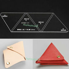 Acrylic Leather templates DIY unisex tools 897 MODEL To make Triangle Coin Purse
