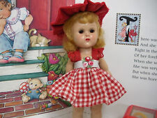 """Fits 8"""" Ginny Vogue Doll .. Red Gingham Dress & Hat 2 Piece Outfit ..D1271"""