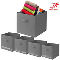 Foldable Square Canvas Storage Collapsible Folding Box Fabric Kids Cubes Toys XL
