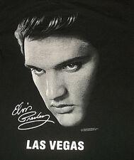 0a5dc51488445 2001 ELVIS PRESLEY Las Vegas Head Shot Signature T Shirt Sz Large L The King