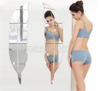 3D Spiegel Feder Wandaufkleber Wandtattoo Wandsticker Abnehmbare-Zimmer DIY Deko