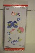 Sizzix Sizzlits Dies Baby Set #3 655302 Angel Booties Pacifier Rattle