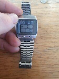 Seiko Quartz Chronograph 0634 5019 - Original 1976 Vintage Watch - Working -Good