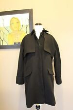 NWT J Crew Collection Double Cloth Trench Coat in Black Size 00 B1650 $450