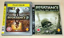 2 PlayStation 3 juegos colección Resistance Fall of a man 1 & 2-como nuevo