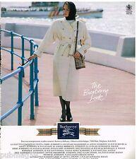 Publicité Advertising 1988 Les Manteaux Imperméables Trench Coat Burberrys