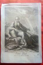 Gravure XVIIIè  - Saint Paul - Pierre Drevet