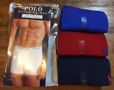 POLO RALPH LAUREN Classic Fit Boxer Briefs - Men's Small S (28-30) NEW 3 Pack